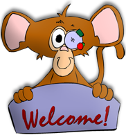 Monkey with Welcome sign