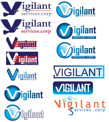 vigilant services logo roughs